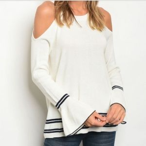 Cold Shoulder Sweater Sz M